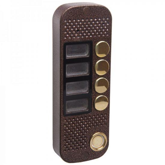 Панель Major Classic 800/4 (медь) вызывная 4-х абонентская для видеодомофона