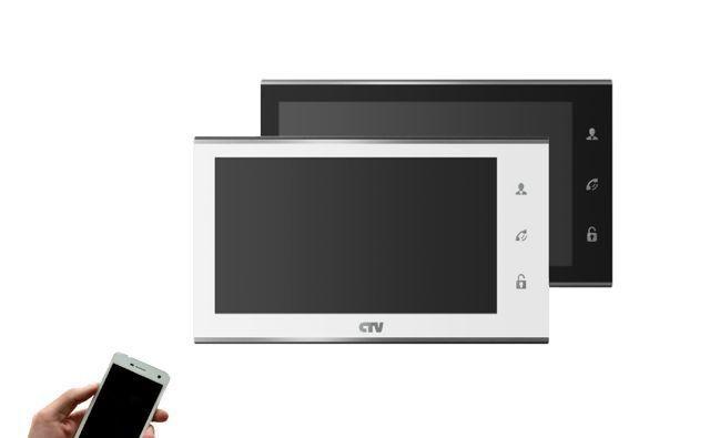 Монитор видеодомофона Wi-Fi Full HD CTV-M4707IP (Белый/Черный) 1080P/64Гб/переадресация на смартфон
