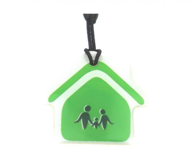 """Заготовка RFID (H2) """"Зеленый дом"""" брелок"""