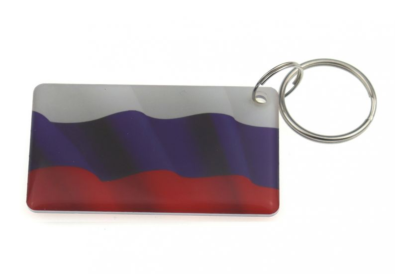 "Заготовка RFID (H2) ""Флаг России 2"" брелок"
