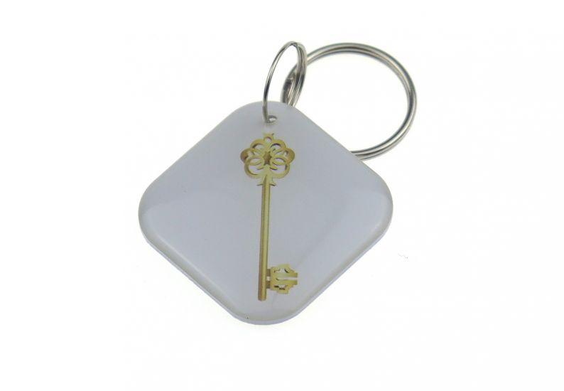 "Заготовка RFID (H2) ""Белый ключ"" брелок"