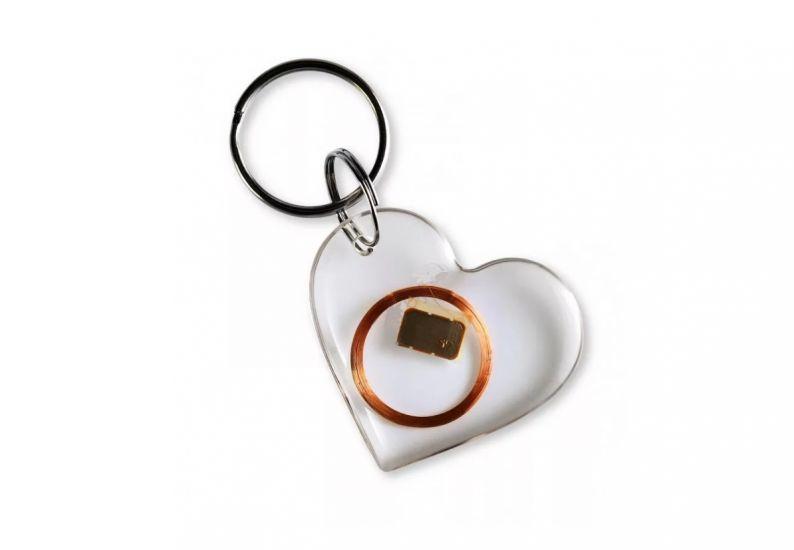 Заготовка RFID (H2) сердце брелок