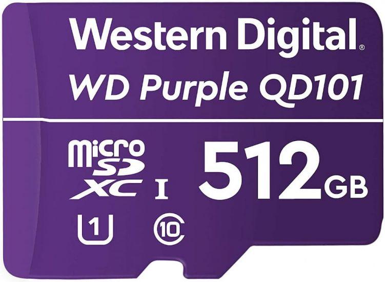 Карта MicroSDXC-карта WD Purple SC QD101 WDD512G1P0C памяти для видеонаблюдения